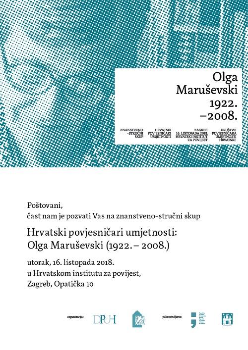 DPUH_Hrvatski povjesnicari umjetnosti_Olga Marusevski_pozivnica