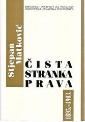 Stjepan Matković: Čista stranka prava, 1895.- 1903.